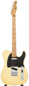 Musical Instruments:Electric Guitars, 1971 Fender Telecaster Olympic White Solid Body Electric Guitar,Serial Number #313484....