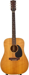 Musical Instruments:Acoustic Guitars, 1970's Gibson J-50 Natural Acoustic Guitar, Serial Number #847459....