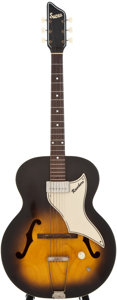 Musical Instruments:Electric Guitars, 1960 Supro Ranchero Sunburst Archtop Electric Guitar, Serial Number#T45709....