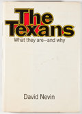 Books:First Editions, David Nevin. The Texans. New York: William Morrow, 1968.First edition, first printing. Octavo. 241 pages. Publisher...