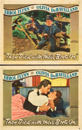 """Movie Posters:Western, They Died With Their Boots On (Warner Brothers, 1941). Lobby Cards (2) (11"""" X 14"""").. ... (Total: 2 Items)"""