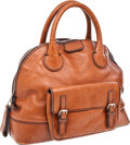 Luxury Accessories:Bags, Chloe Cognac Leather Large Edith Bowling Bag. ...