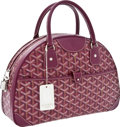 Luxury Accessories:Bags, Goyard Maroon Monogram Canvas Medium Bowling Bag. ...