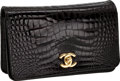 Luxury Accessories:Bags, Chanel Shiny Black Crocodile Classic Clutch with Chain Strap,Retail ~$18,000. ...