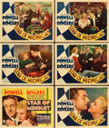 "Movie Posters:Mystery, Star of Midnight (RKO, 1935). Title Lobby Card and Lobby Cards (5)(11"" X 14"").. ... (Total: 6 Items)"