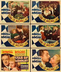 """Star of Midnight (RKO, 1935). Title Lobby Card and Lobby Cards (5) (11"""" X 14""""). ... (Total: 6 Items)"""