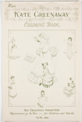Books:Children's Books, Kate Greenaway. Kim's Kate Greenaway Coloring Book. [n. p.]:Red Farm Studio, [n. d.]. Folio. Six images in publ...