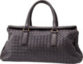 Luxury Accessories:Bags, Bottega Veneta Gray Classic Woven Leather Large Interacciato FlapBag. ...