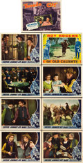 "Movie Posters:Western, Jesse James at Bay & Others (Republic, 1941). Lobby Cards (9) (11"" X 14"").. ... (Total: 9 Items)"