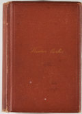 Books:Biography & Memoir, Octavius Brooks Frothingham. Theodore Parker: A Biography.Boston: Osgood, 1874. First edition, first printing. ...