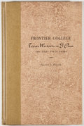 Books:First Editions, Francis L. Fugate. Frontier College. Texas Western at El PasoThe First Fifty Years. El Paso: Texas Western Press, 1...