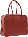 Luxury Accessories:Bags, Hermes 32cm Brick Togo Leather Plume Bag with Palladium Hardware....