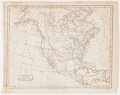 Antiques:Posters & Prints, Map of North America, After Aaron Arrowsmith. From Brookes'General Gazetteer Improved. Philadelphia: Johnson & Warn...