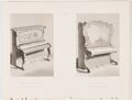 Antiques:Posters & Prints, Lot of 4 Steel Engravings Featuring Keyboard Instruments Displayed at the Great Exhibition of 1851. From Tallis's History ...