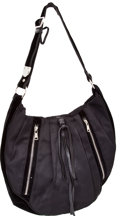 Luxury Accessories:Bags, Yves Saint Laurent Black Canvas and Velvet Large Hobo with SilverHardware. ...