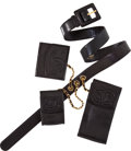 Luxury Accessories:Accessories, Chanel Vintage Black Lambskin Leather Belt with Accessories. ...