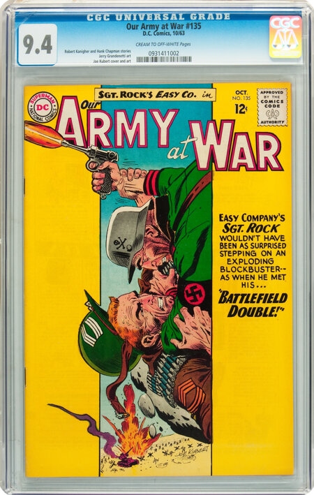 Our Army at War #135 (DC, 1963) CGC NM 9.4 Cream to off-white pages....