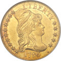 Early Half Eagles, 1796/5 $5 Small Eagle MS62 NGC. CAC. Breen-6418, BD-1, High R.4....