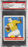 "Football Cards:Singles (Pre-1950), 1948 Leaf Steve Van Buren ""Yellow Jersey and Sock"" #22 PSA NM 7 -Only One Higher. ..."