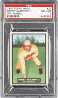 Football Cards:Singles (1950-1959), 1951 Topps Magic Dewey McConnell #21 PSA NM-MT 8 - Pop One With None Higher! ...