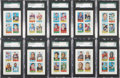 Football Cards:Sets, 1969 Topps 4-In-1 Very High Grade Near Set (65/66) - Instant Set Registry Recognition! ...