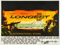 "Movie Posters:War, The Longest Day (20th Century Fox, 1962). British Quad (30"" X40"").. ..."