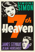 "Movie Posters:Romance, Seventh Heaven (20th Century Fox, 1937). Leader Press One Sheet(28"" X 41.5"").. ..."