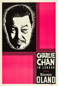 """Movie Posters:Mystery, Charlie Chan in London (Fox, 1934). Leader Press One Sheet (27"""" X 41"""").. ..."""
