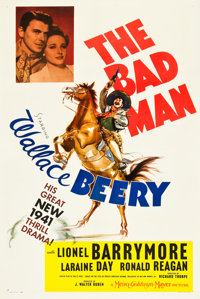 "The Bad Man (MGM, 1941). One Sheet (27"" X 41"") Style D"