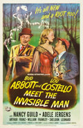 "Movie Posters:Comedy, Abbott and Costello Meet the Invisible Man (UniversalInternational, 1951). One Sheet (27"" X 41"").. ..."