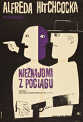 """Movie Posters:Hitchcock, Strangers on a Train (CWF, 1963). Polish Poster (22.5"""" X 33"""").. ..."""