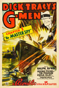 "Movie Posters:Serial, Dick Tracy's G-Men (Republic, 1939). One Sheet (27"" X 41""). Chapter1 -- ""The Master Spy."". ..."