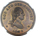 Patterns, 1863 2C Two Cents, Judd-305, Pollock-370, R.4, PR64 Brown NGC. CAC....