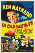 """Movie Posters:Western, In Old Santa Fe (Mascot, 1934). One Sheet (27"""" X 41"""").. ..."""