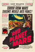 "Movie Posters:Science Fiction, Red Planet Mars (United Artists, 1952). One Sheet (27"" X 41"").. ..."