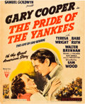"Movie Posters:Sports, The Pride of the Yankees (RKO, 1942). Window Card (14"" X 17.25"").. ..."
