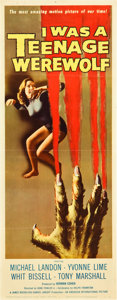 "Movie Posters:Horror, I Was a Teenage Werewolf (American International, 1957). Insert (14"" X 36"").. ..."