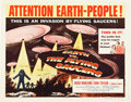 "Movie Posters:Science Fiction, Earth vs. the Flying Saucers (Columbia, 1956). Half Sheet (22"" X28"").. ..."