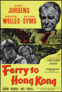 """Ferry to Hong Kong (Rank, R-1960s). British One Sheet (27"""" X 40""""). Action"""