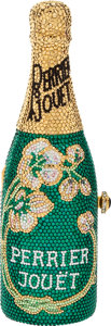 Luxury Accessories:Bags, Kathrine Baumann Rare Full Bead Perrier Jouet Champagne BottleMinaudiere Evening Bag, #84/2500. ...