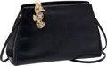 Luxury Accessories:Bags, Judith Leiber Midnight Blue Lizard, Beaded Seahorse Closure EveningBag. ...
