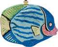 Luxury Accessories:Bags, Kathrine Baumann Full Bead Multicolor Fish Minaudiere Evening Bag,#4/500. ...