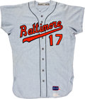 Baseball Collectibles:Uniforms, 1968 Baltimore Orioles Game Issued Jersey....