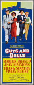 """Movie Posters:Musical, Guys and Dolls (MGM, 1955). Insert (14"""" X 36""""). Musical.. ..."""