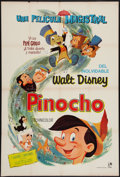 "Movie Posters:Animation, Pinocchio (Rank, R-1962). Argentinean Poster (29"" X 43"").Animation.. ..."
