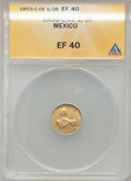 Mexico, Mexico: Republic gold 1/2 Escudo 1853Ce-C, ...