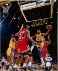 Basketball Collectibles:Photos, Magic Johnson Signed Photograph....