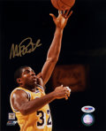 Basketball Collectibles:Photos, Magic Johnson Signed Photograph. ...