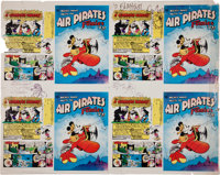 Air Pirates Funnies #1 Cover Uncut Proof Sheet Signed by O'Neill, Hallgren, and Richards (Hell Comics, 1971)