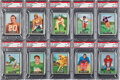 Football Cards:Sets, 1951 Topps Magic Football High Grade Complete Set (75) With Three Pop One of One's! ...